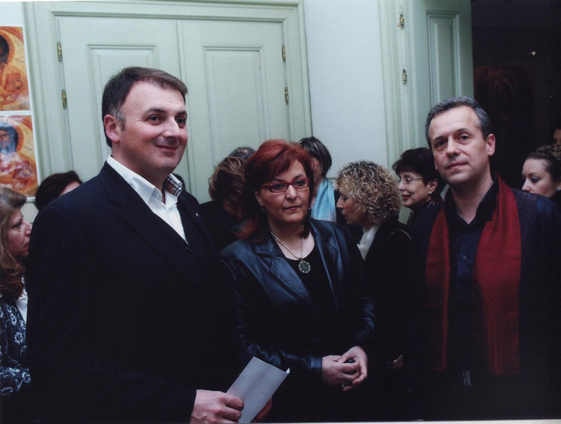 Casa-Bianca-With the Deputy mayor Gakis George and the Director of Municipal Gallery Voula Manakou